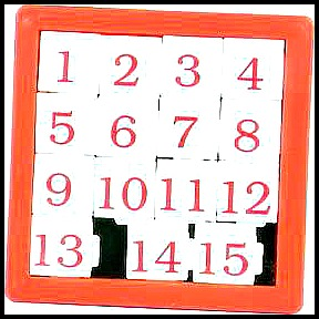 sliding number tile game