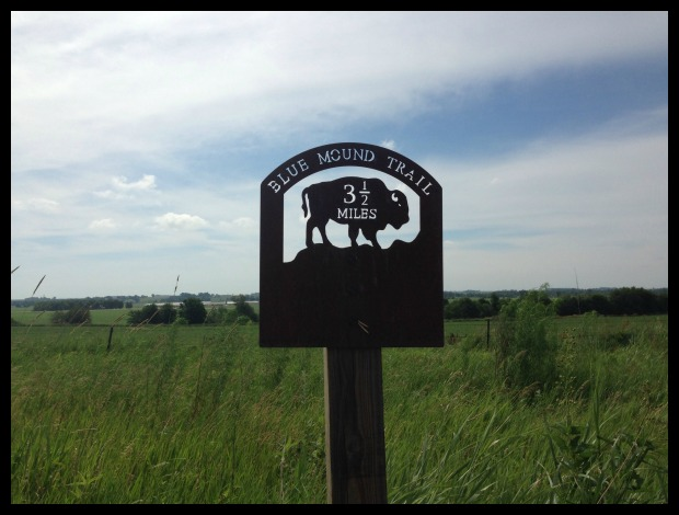 blue mound sign